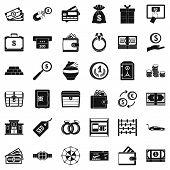 Hard Cash Icons Set. Simple Set Of 36 Hard Cash Vector Icons For Web Isolated On White Background poster