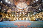 New Mosque Interior In Istanbul