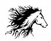 Fuego símbolo de caballo (vector)