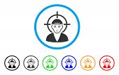 Target Boy Rounded Icon. Style Is A Flat Target Boy Grey Symbol Inside Light Blue Circle With Black, poster