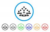 Staff Manager Rounded Icon. Style Is A Flat Staff Manager Grey Symbol Inside Light Blue Circle With  poster