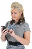 Attractive Woman Using A Smart Phone 04