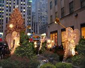 A Holiday Light Display At Rockefeller Center