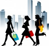 pic of street-walker  - Shopping girls - JPG