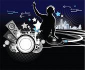 Dj, music concept, vector illustration