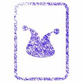 Grunge Joker Gambling Card Rubber Seal Stamp Watermark. Icon Symbol With Grunge Design And Scratched poster