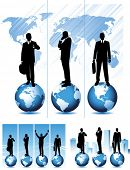 Global business, vector illustration.