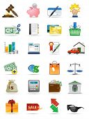 Vector icons series. All elements and textures are individual objects. Illustration scale to any siz