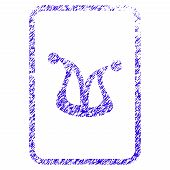 Grunge Joker Gaming Card Rubber Seal Stamp Watermark. Icon Symbol With Grunge Design And Dust Textur poster