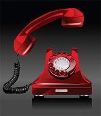 Altes Telefon.  Alle Elemente und Strukturen sind einzelne Objekte. Vektor-Illustration-Skala auf jede beliebige Größe.