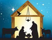 Star of Bethlehem. Raster version of vector illustration.
