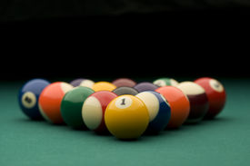 foto of pool ball  - Image of billiard balls on the table - JPG