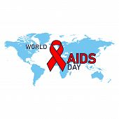 1st December. World Aids Day Concept. Aids Awareness Red Ribbon. World Aids Day Poster poster