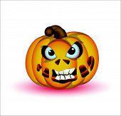 Horrible Halloween Pumpkin Vector