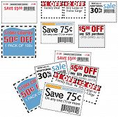 foto of thrift store  - Clip this group of six print coupons as elements store sale ad designs - JPG