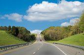 Fahrt entlang der interstate highway