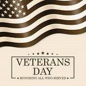 Veterans Day Background. Template For Veterans Day Design. Vector Illustration. poster