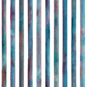 Watercolor Colorful Stripes On White Background. Blue Teal Pink White Striped Seamless Pattern. Wate poster