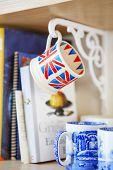 British Union Jack Mugs. Cups With British Flag Print poster