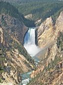 Lower Falls in Grand Canyon of the Yellowstone in Wyoming, USA