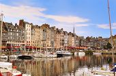 The Beautiful Old Port Of Honfleur, Normandy, France.