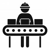 Labor Assembly Line Icon. Simple Illustration Of Labor Assembly Line Vector Icon For Web Design Isol poster