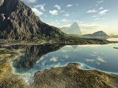 image of eastern hemisphere  - An image of a nice fantasy landscape - JPG