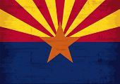 Arizona grunge flag. Arizona flag with a texture