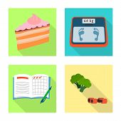 Vector Design Of Symptom And Disease Icon. Set Of Symptom And Treatment Stock Vector Illustration. poster
