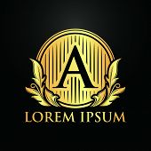 Save Download Preview Luxury Logos, Letter A Logos, Classic And Elegant Logo Designs For Industry An poster