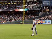 Nationals Outfielder Jayson Werth Stands In Position