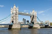 LONDON, UK - APRIL 30: Side shot of Tower Bridge. April 30, 2012 in London. The iconic bridge was completed in 1894.