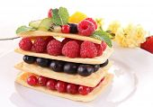 berry fruit mille feuille