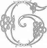 Celtic Knot-work Letter G Outline