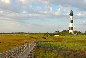 die Bodie Island Lighthouse auf die outer Banks von North carolina