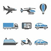 Transport Icons - A set of second