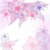 Kaart of uitnodiging met abstract floral achtergrond.