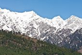 Beautiful Peaks Of Himalayas In Manali Valley, India