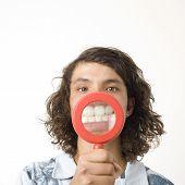 Boy Magnifies Teeth
