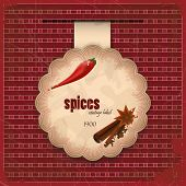 Vintage Spice Menu Card