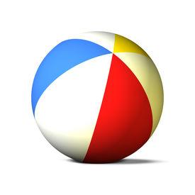 foto of beach-ball  - 3D Beach Ball  - JPG