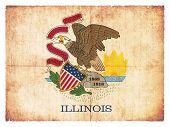 Grunge Flag Of Illinois (usa)