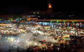 Morocco, Marrakech: Djema El Fna At Night