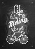 Bicycle Vintage Typographical Background