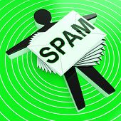 Spam Target Shows Junk Unsolicited Unwanted E-mail