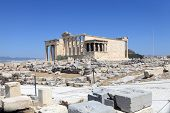 Front Of Erechtheum Ancient Temple