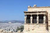 Sculpture Of Erechtheum Greek Temple