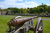 Antiguo cañón en el castillo de Culzean, Ayrshire