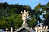 Jesus Gravestone Statue