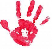 Постер, плакат: Красный отпечаток руки